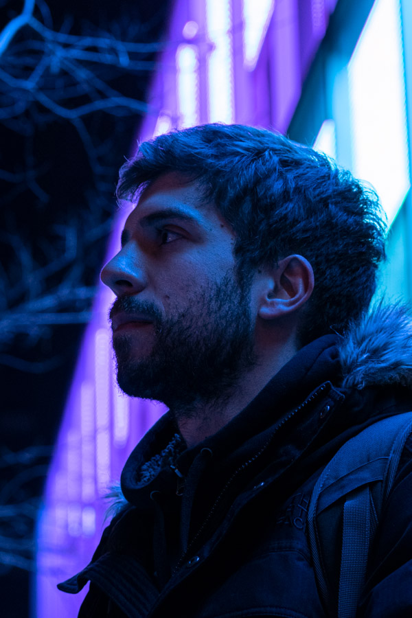 About Poppip - Profile Picture backlit with neon