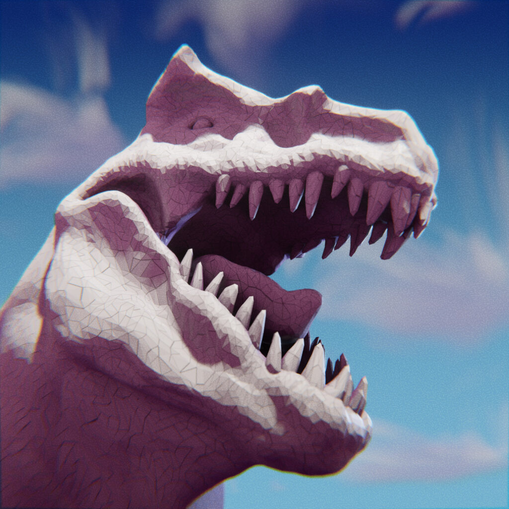 dinosaur t-rex open jaw