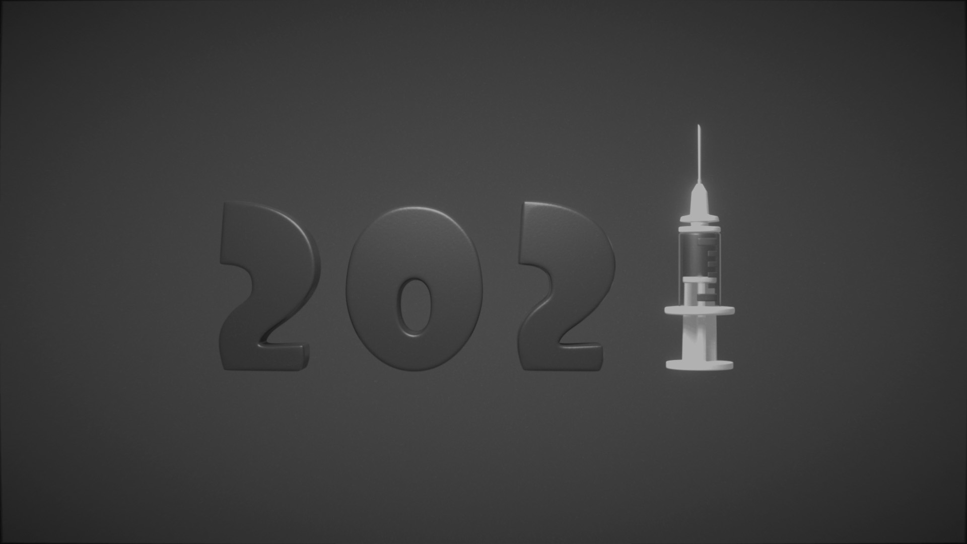 2021 covid animation black and white
