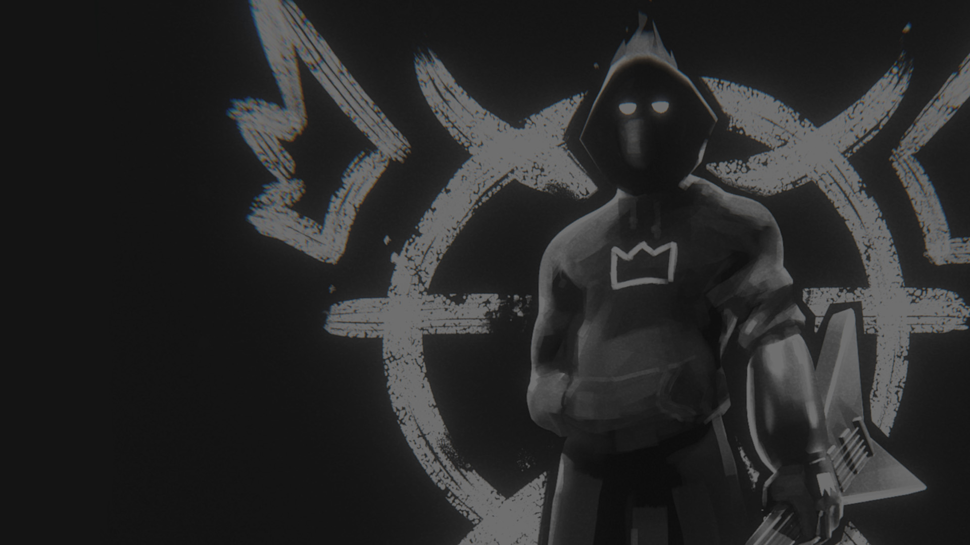 atomsk character fan art black and white banner