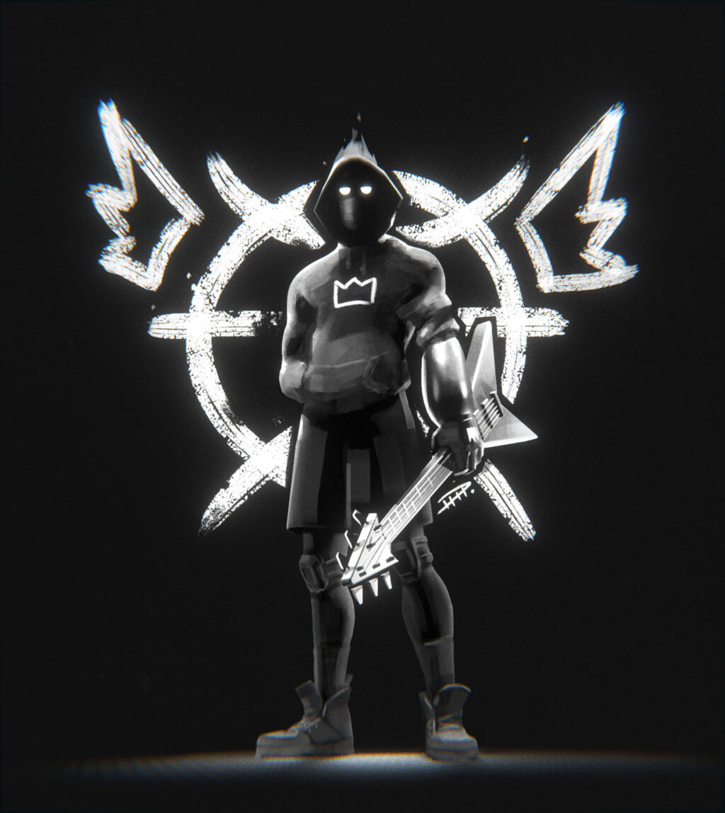 atomsk character fan art black and white