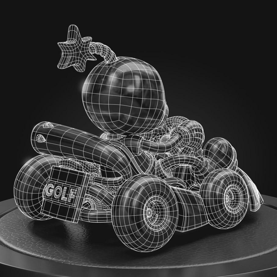 cherrybomb wireframe topology