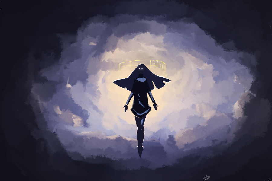pomelyne dtiys 2020 black silhouette floating in clouds