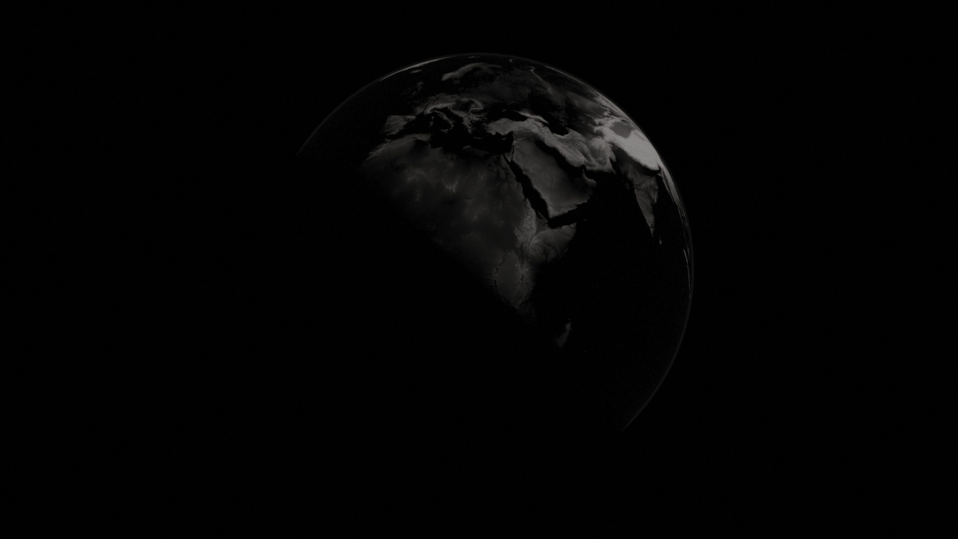 earth black and white banner