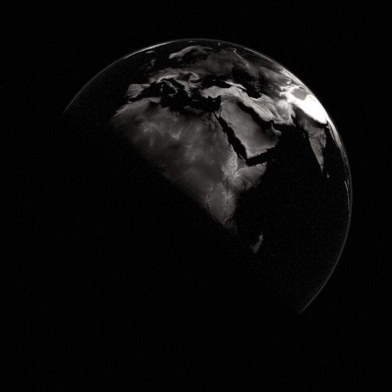 earth black and white thumbnail