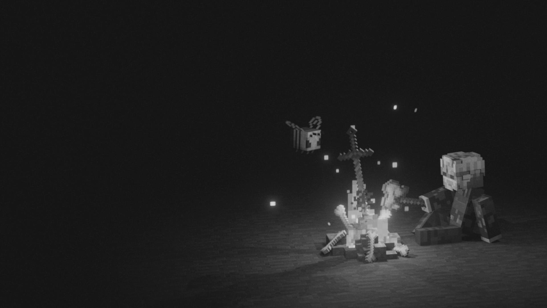 pewdiepie intro banner black and white minecraft fireplace poppip