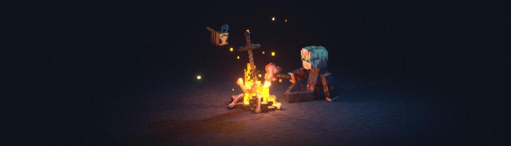 pewdiepie intro still frqme minecraft fireplace poppip