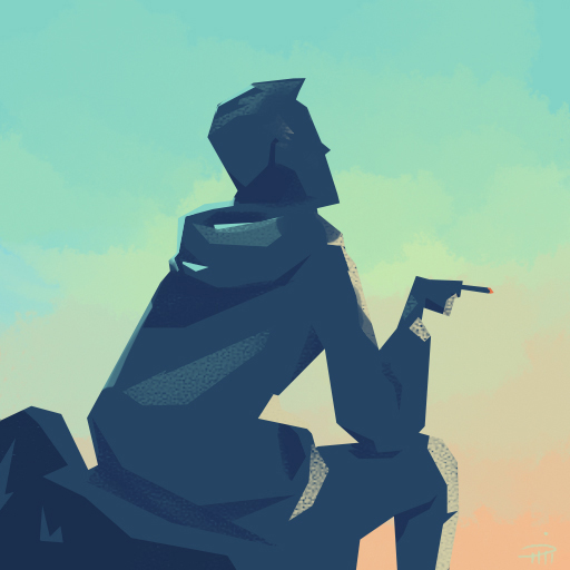 silhouette of a guy smoking