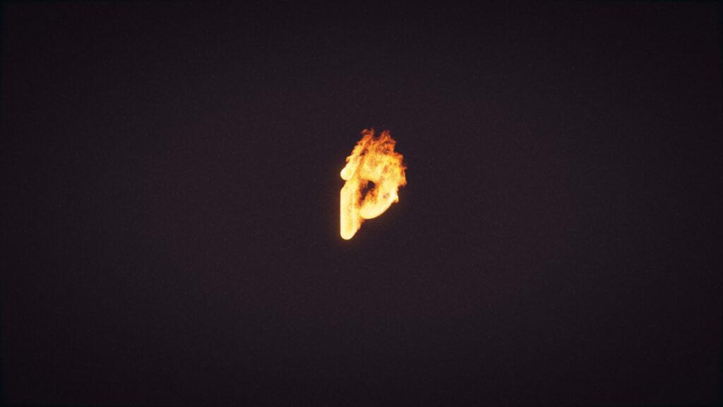 poppip logo fire still frame